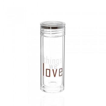 Бутылка для воды Love 200мл 23280 - бижутерия оптом Arkos.