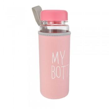 Бутылка My Bottle пластиковая с чехлом 23206 - бижутерия оптом Arkos.