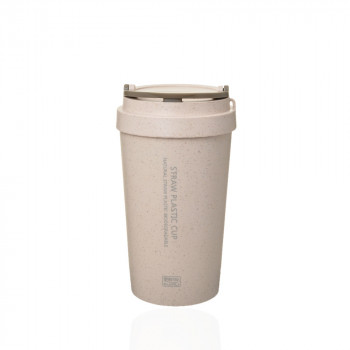 Термостакан Straw Plastic Cup 400мл 23335 - бижутерия оптом Arkos.