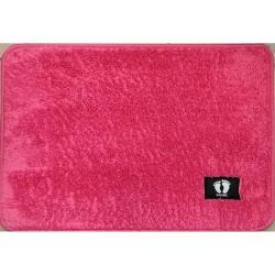 Коврик для ног микрофибра (р.40 х 60 см) розовый 23349 1