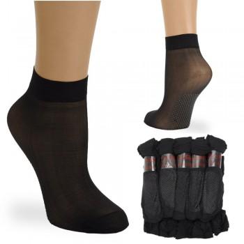 носки женские капронки 3105 безразмерные с тормозами черные - бижутерия оптом Arkos.