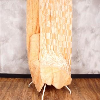 Плед норка-травка двухсторонний (p.220 x 240 cm) 20790  персик - бижутерия оптом Arkos.