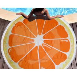 Полотенца пляжные круглые 4776 (Ø 150 см) мандарин 1