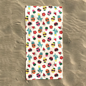 Полотенце пляжное (70 х 140 см) 3432 - бижутерия оптом Arkos.