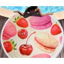Полотенца пляжные круглые 4778 (Ø 150 см) Ягоды
