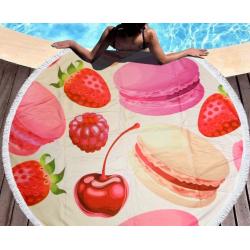 Полотенца пляжные круглые 4778 (Ø 150 см) Ягоды 1