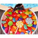 Полотенца пляжные круглые 4780 (Ø 150 см) Конфеты