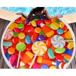 Полотенца пляжные круглые 4780 (Ø 150 см) Конфеты 1
