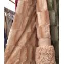 Плед норка-травка двухсторонний (p.220 x 240 cm) 22159 темный персик
