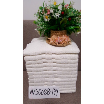 Банное махровое полотенце белое 6613 - бижутерия оптом Arkos.
