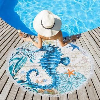 Полотенца пляжные круглые (Ø 150 см) 22990 - бижутерия оптом Arkos.