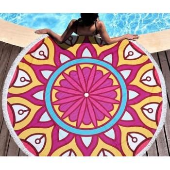 Полотенца пляжные круглые (Ø 150 см) 23017 - бижутерия оптом Arkos.