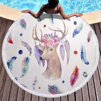 Полотенца пляжные круглые (Ø 150 см) 23198 - бижутерия оптом Arkos.