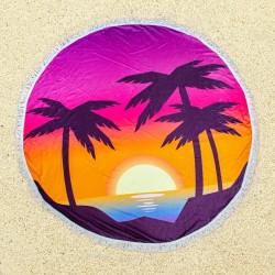 Полотенце пляжное круглое 23409 1