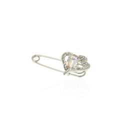 брошь-булавка металлическая Сердце 14060 1