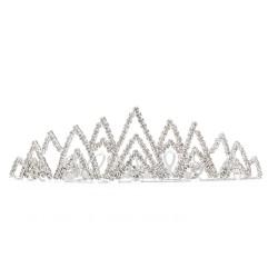 диадема-гребень с белыми стразами (металл) 10943 1