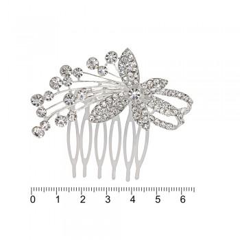гребешок-диадема с украшением металл 12691 - бижутерия оптом Arkos.