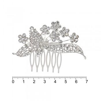 гребешок-диадема с украшением металл 12694 - бижутерия оптом Arkos.