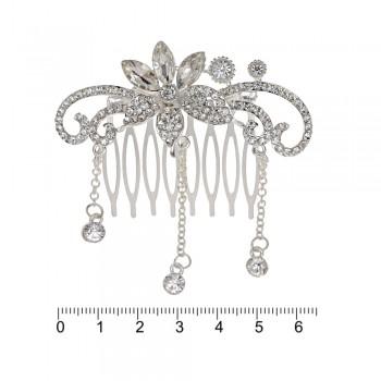 гребешок-диадема с украшением металл 12695 - бижутерия оптом Arkos.
