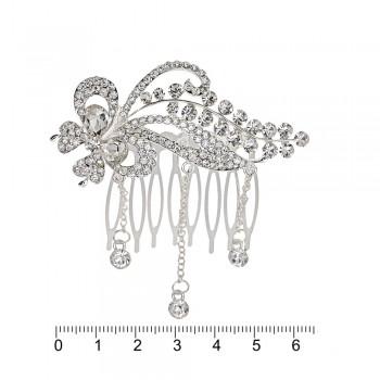 гребешок-диадема с украшением металл 12696 - бижутерия оптом Arkos.