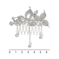 гребешок-диадема с украшением металл 12699 1