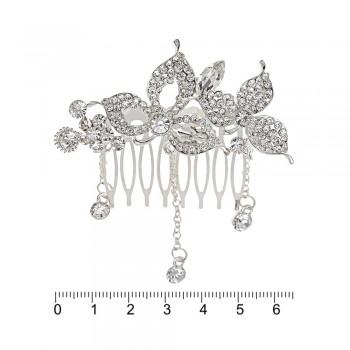 гребешок-диадема с украшением металл 12699 - бижутерия оптом Arkos.