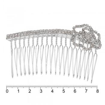 гребешок-диадема с украшением металл 12885 - бижутерия оптом Arkos.