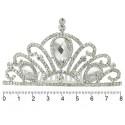 диадема-гребень с белыми стразами (металл) 9145 3
