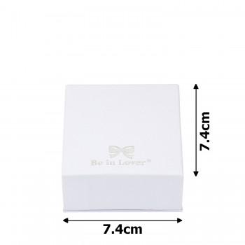 подарочная коробочка для набора белая 15534 - бижутерия оптом Arkos.