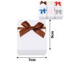 подарочная коробочка для набора белая с бантиком 15541