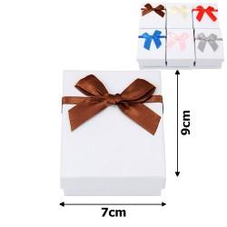 подарочная коробочка для набора белая с бантиком 15541 1