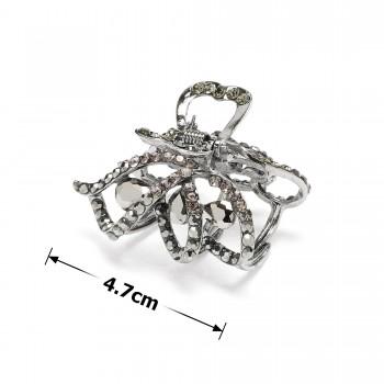 заколка краб для волос металлический 14025 - бижутерия оптом Arkos.