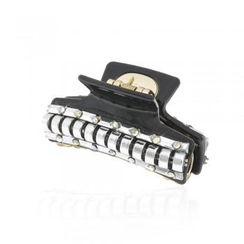 заколка краб для волос пластиковый со стразами 10022 - бижутерия оптом Arkos.