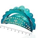 заколка краб для волос пластиковый со стразами 10598