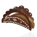 заколка краб для волос пластиковый со стразами 10598 12