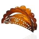 заколка краб для волос пластиковый со стразами 10598 2