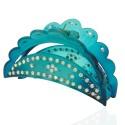 заколка краб для волос пластиковый со стразами 10598 4