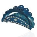 заколка краб для волос пластиковый со стразами 10598 7