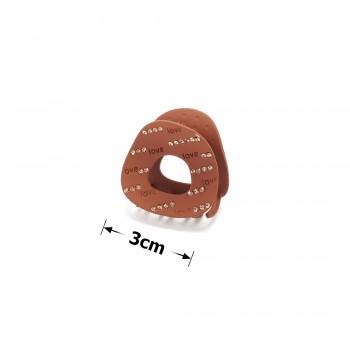 заколка краб для волос металл матовый 15779 - бижутерия оптом Arkos.
