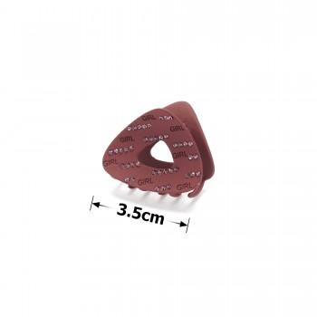 заколка краб для волос металл матовый 15783 - бижутерия оптом Arkos.