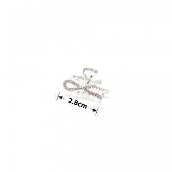 заколка краб для волос металлический 15789 - бижутерия оптом Arkos.