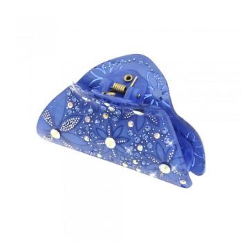 заколка краб для волос из французского пластика со стразами 8092 - бижутерия оптом Arkos.