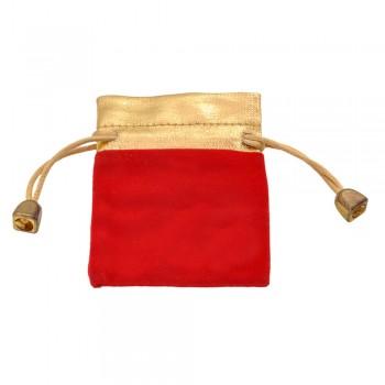 мешочек подарочный велюровый красный 12949 - бижутерия оптом Arkos.