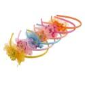 обруч для волос детский с цветком 6407