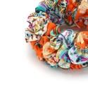 резинка для волос объёмная из шифоновой ткани с принтом 16043 5