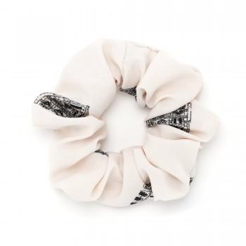 резинка для волос из софтовой ткани Париж 16051 - бижутерия оптом Arkos.