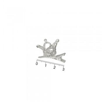 заколка-уточка с коронкой металлическая 13786 - бижутерия оптом Arkos.