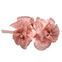 резинка для волос шифоновая объемная с цветками и жемчугом 4177 6