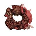 резинка для волос шифоновая объемная с леопардовым принтом и бантиком 7096 2