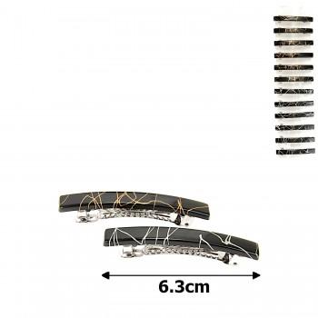 заколка-автомат глянцевый с узорами 11-13736 - бижутерия оптом Arkos.